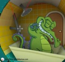 gator in tub